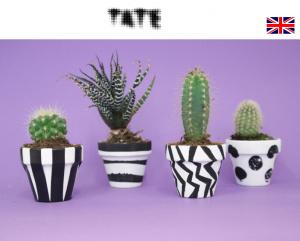 Make an op art plant pot - Tate uk